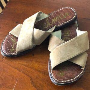 Sam Edelman Gertrude Tan Suede Slide Sandals